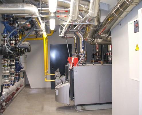 Instalación calefación edificio