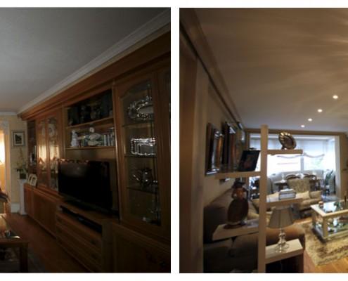 antes y después reforma salón
