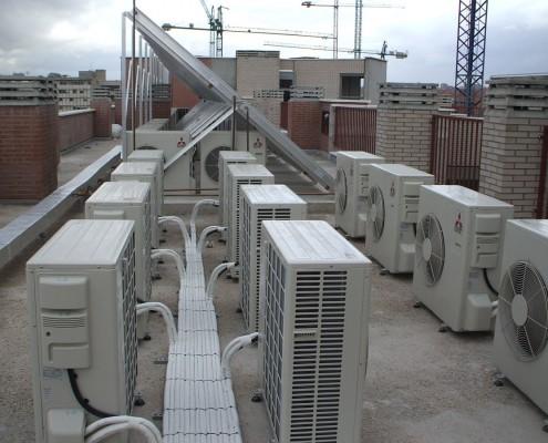 Instalación climatización viviendas