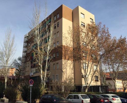 Rehabilitación de fachada en edificio