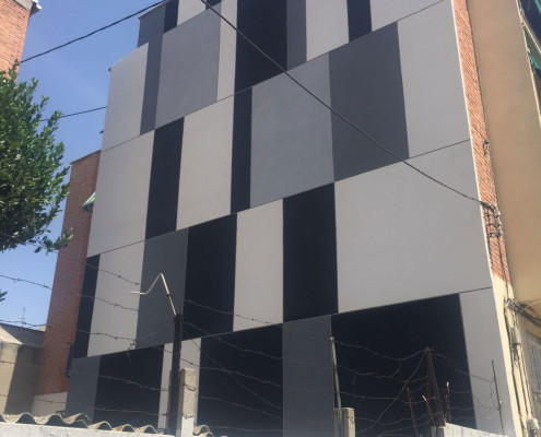 Rehabilitación de fachadas lateral
